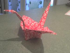 Paper Crane for a brave mother