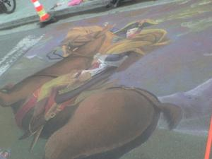Chalk Drawing down town