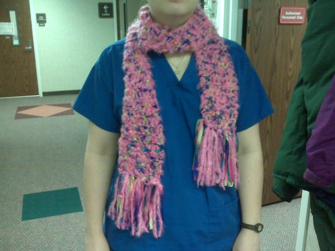 My cotton candy scarf