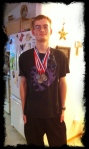 My son won a bunch of metals at Academic Decathlon and the team brought home state!