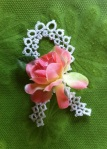I made this tatted lace awareness ribbon in memory of my cousin that passed away