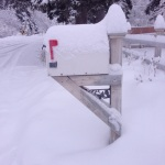 My Mailbox covered in snow