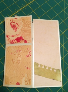 Vintage pop up box card flat